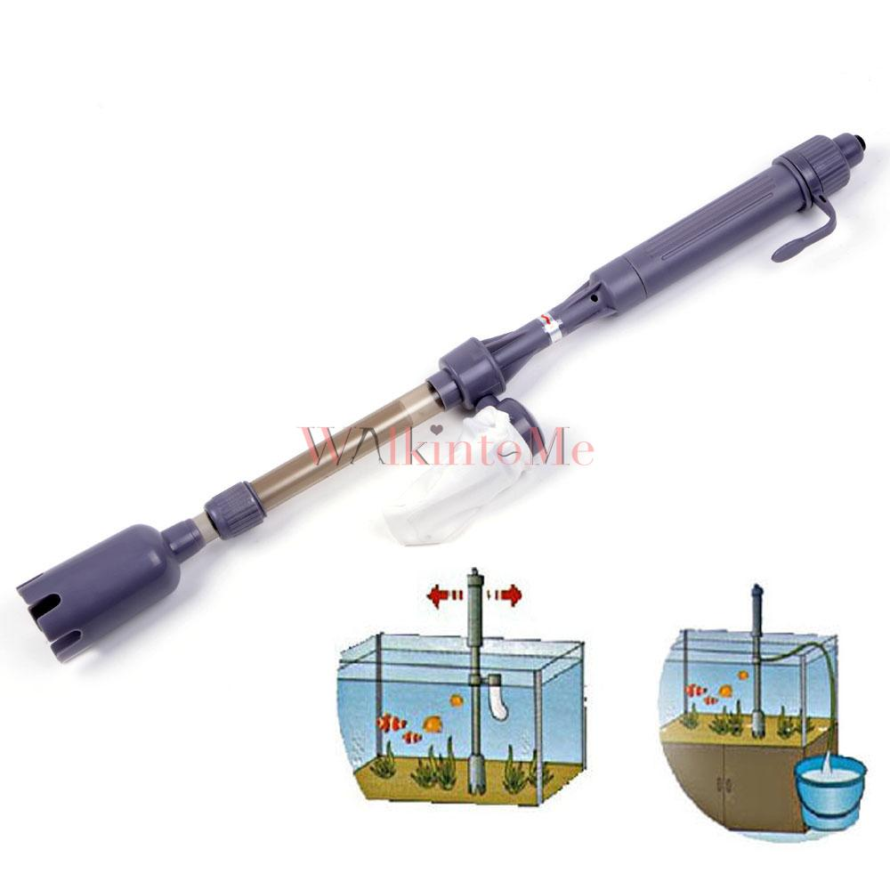Electric aquarium vacuum cleaner pumps syphon siphon for Fish tank vacuum